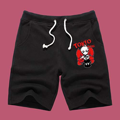 Tokyo Ghoul Anime Shorts Kurze Hose Hosen Jogging Herren Kurz Sport Sommer Sport Baumwolle Pants Short Men Mit Taschen M Schwarz