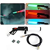 Handheld LED CO2 Gun, LED Colorful RGB Mixed CO2 Spray Cannon Night Club Cryo Fog Stage Special Effect Smoke Show Effect w/ 3M Hose USA STOCK