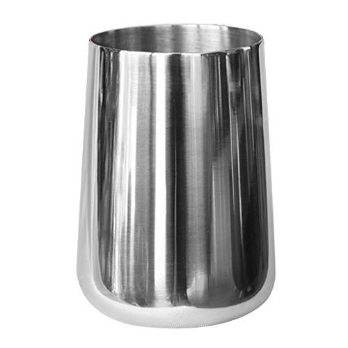 perfk Vaso de Cóctel 380ml Vaso de Vino Taza de Acero Inoxidable Vaso de Beber de Metal