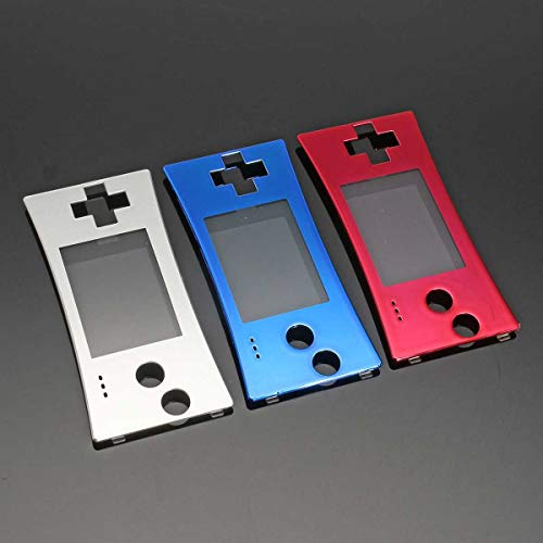 BELONG Red Silver Blue for GameBoys Micro Replacement Front Shell Faceplate Cover for GBM GameBoys Micro System Front Case Cover