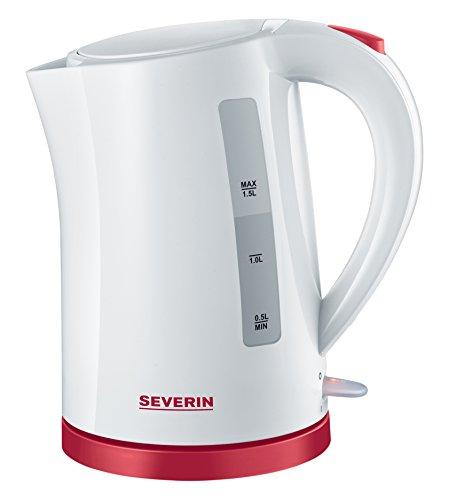 Severin WK 9941 1.5L 2200W Rot, Weiß Wasserkocher - Wasserkocher (AC)