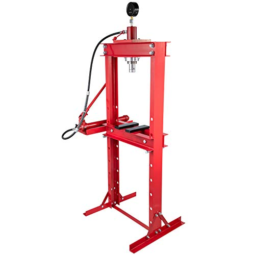 """Bestauto Hydraulic Press 20 Ton Hydraulic Shop Floor Press 44000 lb w/with Heavy Duty Steel Plates and H Frame Working Distance 41""""(104cm) Top Mount for Gears and Bearings"""
