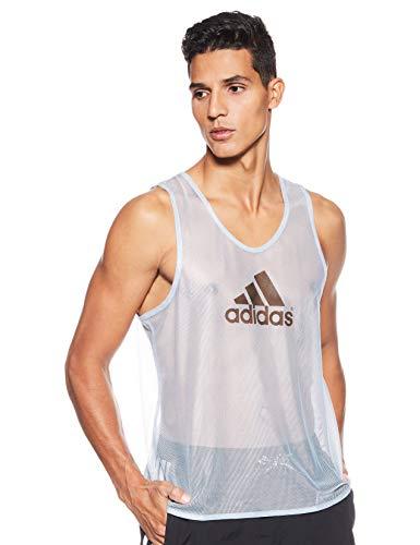 adidas Bekleidung Fußball Trainings Bib 14 Camiseta de Manga Corta, Hombre, Silver, S
