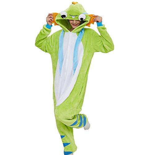 AdorabFitting Pijamas De Toalla con Capucha Albornoces Mujeres Hombres Adultos Verde Carpa