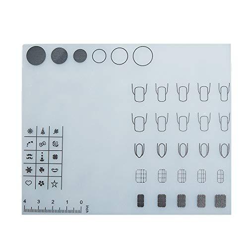 Baugger Mantel de Uñas | Mini Silicona Nail Art Mantel Mesa Lavable Cojín Plegable Manicure Cojín Brazo Resto Herramienta de Manicura