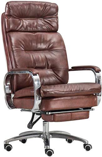 Noble Chair Liegestütze Gaming Stuhl Schreibtischstuhl PU Leder Executive Swivel Schreibtischstühle Professionelle Gamer Design (Color : Brown Yellow)