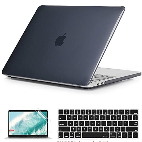BlinkCat 3 in 1 Custodia Portatili per MacBook Pro 15 Pollici Non-Retina (A1286), Plastica Crystal Rigida Sottile e Protettiva Cover & Tastiera Cover & Proteggi Schermo - Nero