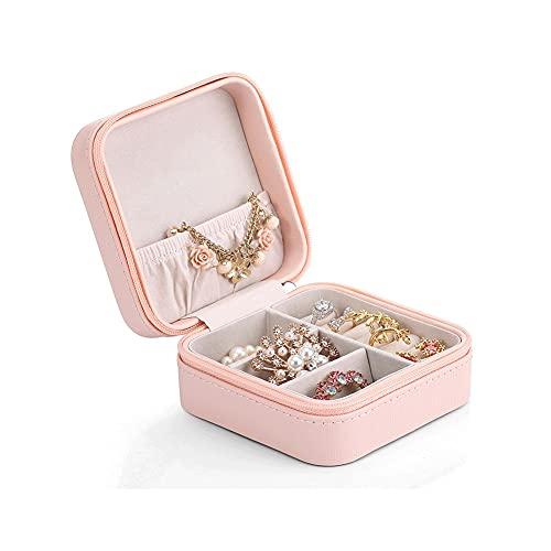 Bdesign Caja de joyería portátil Creativa, Collar Pulsera Caja de Almacenamiento de Almacenamiento de Viaje Caja de joyería Aniversario Regalo de Boda (Color : Pink)