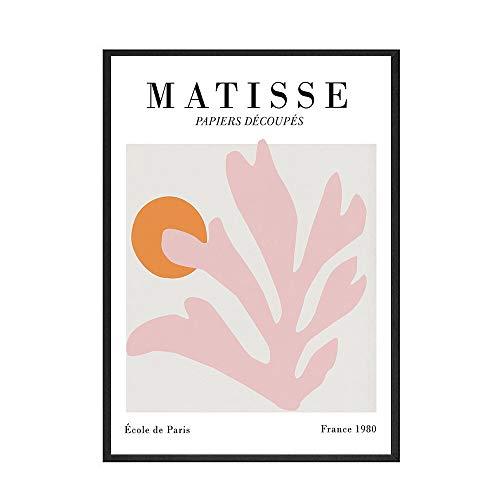 Matisse abstracto Morandi carteles e impresiones de hojas de color arte cuadros de arte de pared cuadros de lienzo decorativos sin marco para el hogar A1 60x80cm