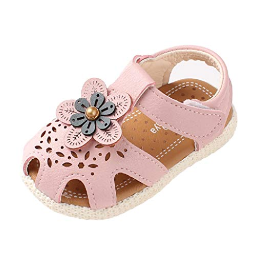 Auxma Sandalias de Suela Blanda para bebés Zapatos de Cuna de la Boda del Vestido Antideslizante por 6-36 Meses