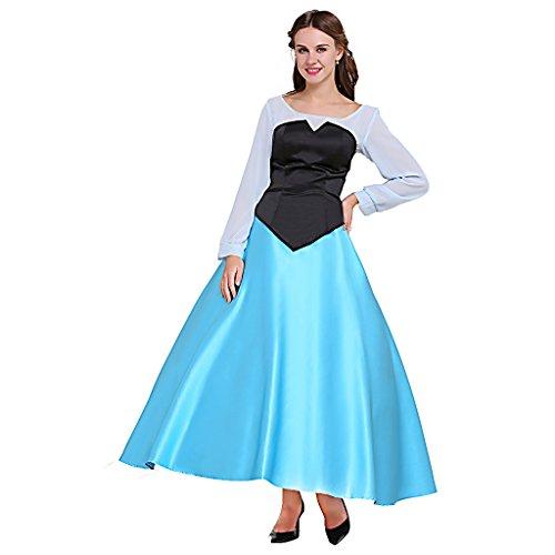 Fortunehouse Disfraz de princesa para mujer, disfraz de fiesta de sirena