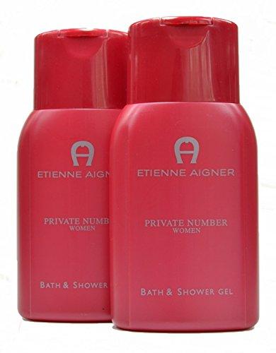 2x Etienne Aigner Private Number Women Bath & Shower Gel - 2x 250ml (Gesamtmenge = 500ml)