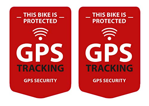 GPS Tracking 2 Stück Aufkleber für das Fahrrad, Bike Sticker - Wetterfest, UV-Beständig