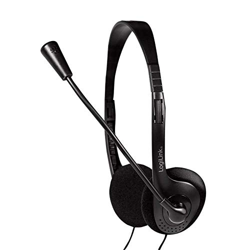 LogiLink HS0052 Stereo Headset Kopfhörer mit Mikrofon Easy VOIP Telefonkonferenz