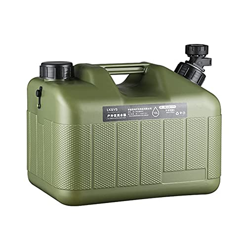Reservoir Agua Camping Car, 10 L/18 litros de agua portátil, bidón de agua con mango, Jerrican alimentario, hervidor de calidad alimentaria, botella de agua multifuncional reutilizable