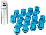 【RAYS(レイズ)】 ジュラルミンナットセット ギアタイプ(ショート) M12X1.5 BL(ブルー) 16個セット 74012000002BL