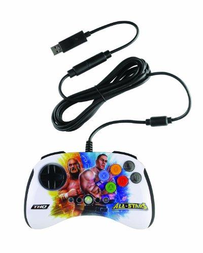 MAD CATZ WWE All Stars BrawlPad: Hulk Hogan vs John Cena Manette de Jeu Xbox Multicolore - Accessoires de Jeux vidéo (Manette de Jeu, Xbox, Dos, D-Pad, Démarrer, Turbo, avec Fil, Multicolore, 3 m)