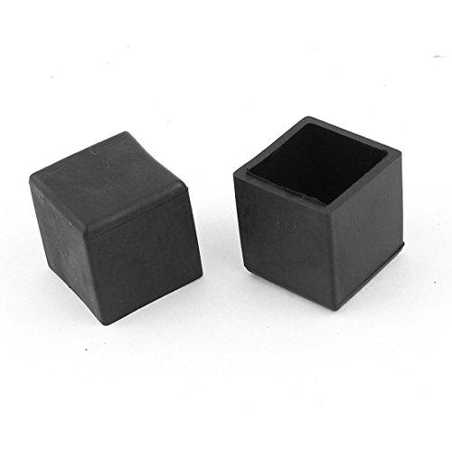 Sourcingmap 20 mm x 20 mm carré Embout Patin Pied de Meubles en Caoutchouc Support Protection 2 pièces