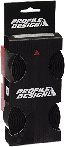 Profile Design Lenkerband Kork - Cinta de Manillar para Bicicleta, Color Negro