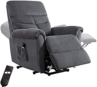 Bonzy Home Recliner New Electric Powered Lift Recliner Chair with Remote Control - Home Theater Seating - Bedroom & Living Room Chair Recliner Sofa for Elderly (Grayish Blue)