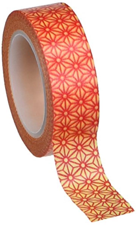 Wrapables Colorful Patterns Japanese Washi Masking Tape - Orange Starry Flower