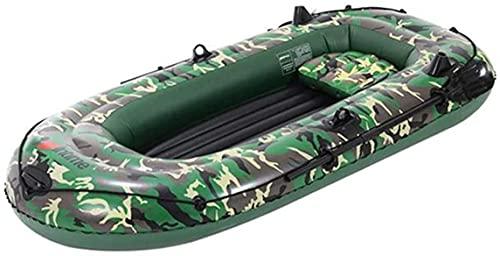 WEUN Barco Inflable Kayak para Adulto, Kayak Inflable, Barco de Pesca portátil 2 Persona Barco para Adultos Barco de Pesca Kayak Aplicar a Ocean Sea Lake Camuflaje
