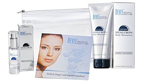 DEVEE Hyaluron VORTEILSPAKET: Gel Super Concentrate 30 ml + Body Lotion 200 ml + Attraktive Geschenkverpackung