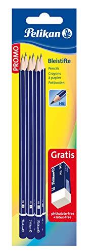 Pelikan 914341 6 Bleistifte + 1 Radierer AL30 Gratis