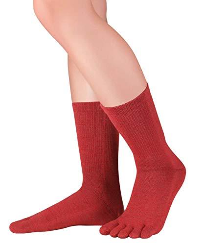 Knitido lange Zehensocken Cotton und Merino Melange aus Baumwolle & Merino, Größe:39-42, Farbe:Red Clay (015)