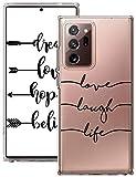 Compatible para Samsung Galaxy Note 20 Ultra 5G Funda, Transparente Suave Silicona TPU Ultrafina Mármol Flor Diseño Carcasa 360 Antigolpes Anti-Amarillo Teléfono Caso para Samsung Note 20 Ultra 5G