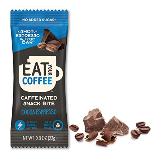Eat Your Coffee Energy Snack Bite | Cocoa Espresso | Vegan, Gluten Free, Non GMO, Kosher | Tasty Caffeinated and Natural Snack | Ethically Sourced, Clean Ingredients | Real Food to Fuel Workouts
