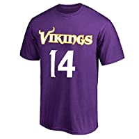 NFL Youth 8-20 Team Color Polyester Performance Mainliner Player Name and Number Jersey T-Shirt (Medium 10/12, Stefon Diggs Minnesota Vikings Purple)