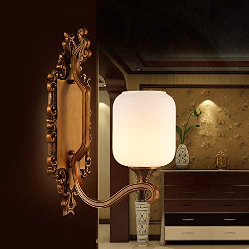 Unbekannt FEI Chinesische Wandleuchte Schlafzimmer Nachttischlampe Retro Marmor Steinwand Gang Korridor Eingang Alle Kupfer Wandleuchte