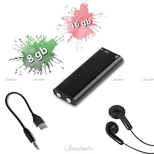 Mini REC PRO Voice Recorder 8 GB of 16 GB Audio Voice Recorder Spionage MP3-speler Pen Drive met hoofdtelefoon 8GB zwart.