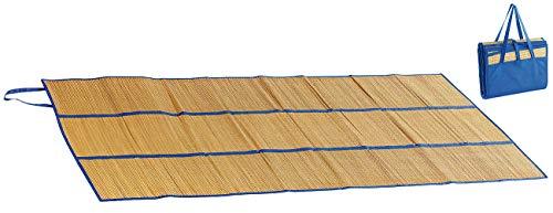 PEARL beach Strohmatte: Faltbare Bast-Strandmatte mit Tragegriffen, 180 x 90 cm (Bastmatte)