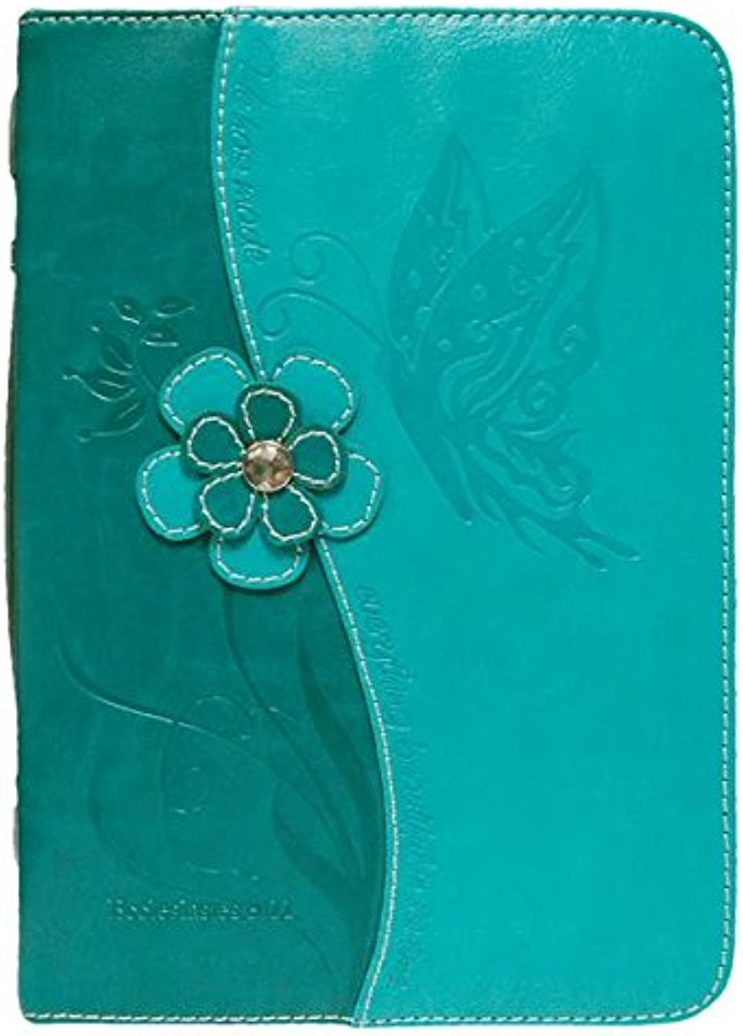 Divinity Boutique Teal bluee Butterfly (M) Bible Cover