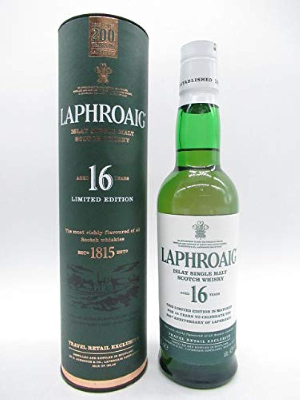 アルコール独創的増加するラフロイグ 16年 200周年記念ボトル ハーフサイズ 43度 350ml [並行輸入品]