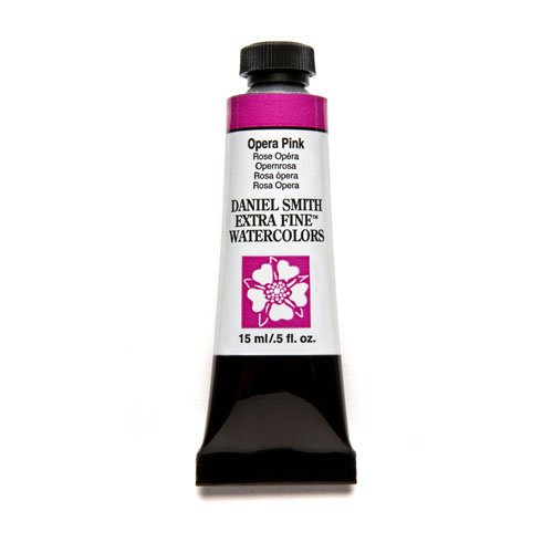 DANIEL SMITH 284600198 Extra Fine Watercolor 15ml Paint Tube, Opera-Pink