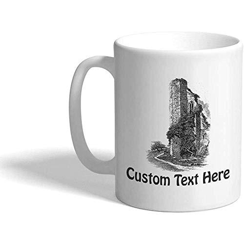 Gewohnheit Kaffeetasse 330 ml Turm-Schloss-Architektur-keramische Tee-Schale personalisierter Text