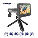 Aomekie Telescopio Digital Monocular 1080P 50X USB LCD Portátil 14MP Video Photo Recorder Monocular de Alta Ampliación Tarjeta TF de 8GB y Trípode Extensible