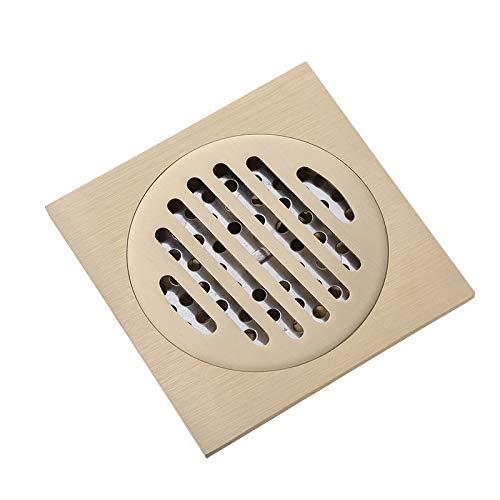 PajCzh vloer afvoer 1 vloer afvoer volledige koper natuurlijke kleur verplaatsing 100 * 100 Mm badkamer anti-blokkeren universele vloer afvoer badkamer vloer afvoer