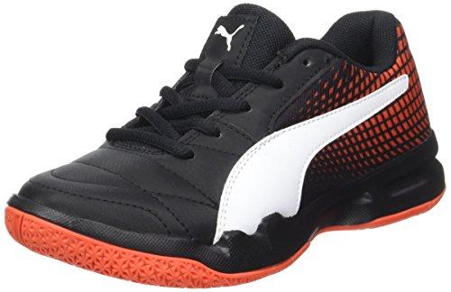 Puma Unisex-Kinder Veloz NG Jr Multisport Indoor Schuhe, Schwarz Black White-Cherry Tomato, 28 EU
