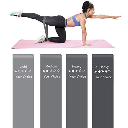 Your Choice Premium Resistance Loop Bands Exercise Work Out Fitness Bands for Legs and Glutes, Physicaly, Stretch (B4 Gray Series)