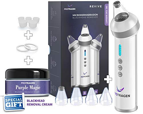 Advanced Revive Comedo Suction Blackhead Removal Device Rechargeable Skin Clearing Device - Non Abrasive - By ProTragen
