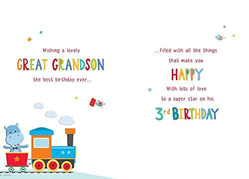 Regal Publishing - Biglietto Di Compleanno Per Bambini, Età 3 Anni, 9 X 15 Cm