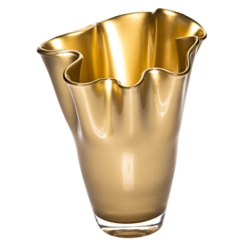 SIGNATURE HOME COLLECTION Vase, Glas, Gold