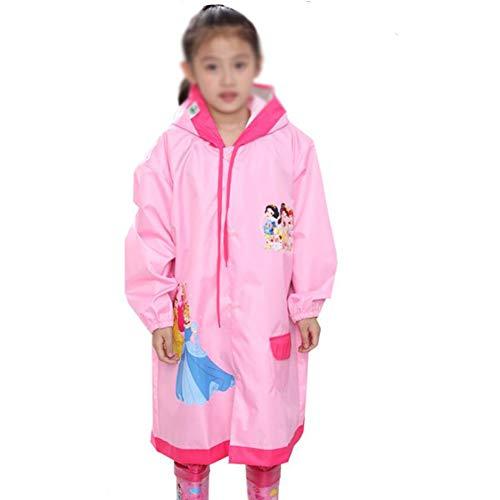 Yuycca Rainnna Kinder wasserdichte Regenjacke, Wiederverwendbar Regenbekleidung Atmungsaktiv Und Leicht Regenjacken Geeignet Für Kindergarten, Baby,Pink,L