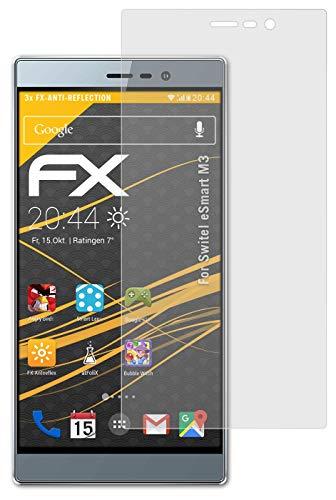 atFolix Panzerfolie kompatibel mit Switel eSmart M3 Schutzfolie, entspiegelnde & stoßdämpfende FX Folie (3X)