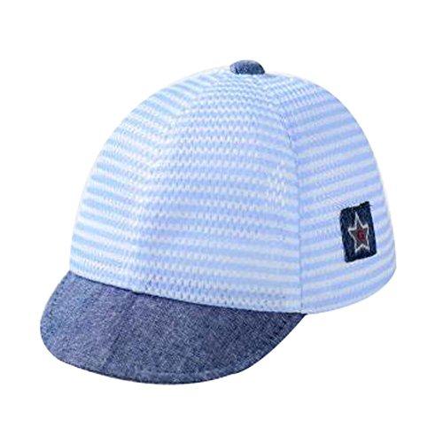 Coton bleu Sunhat Pliable plage Chapeau grand cadeau Chapeau bébé d'été Chapeau Belle Cap