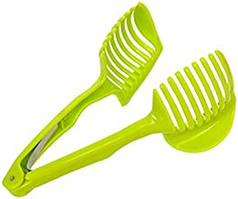 Kitchen Gadgets Clip Fruit Vegetable Slicer Tool Potato Food Tomato Onion Lemon Vegetable Fruit Slicer Cutter Holder
